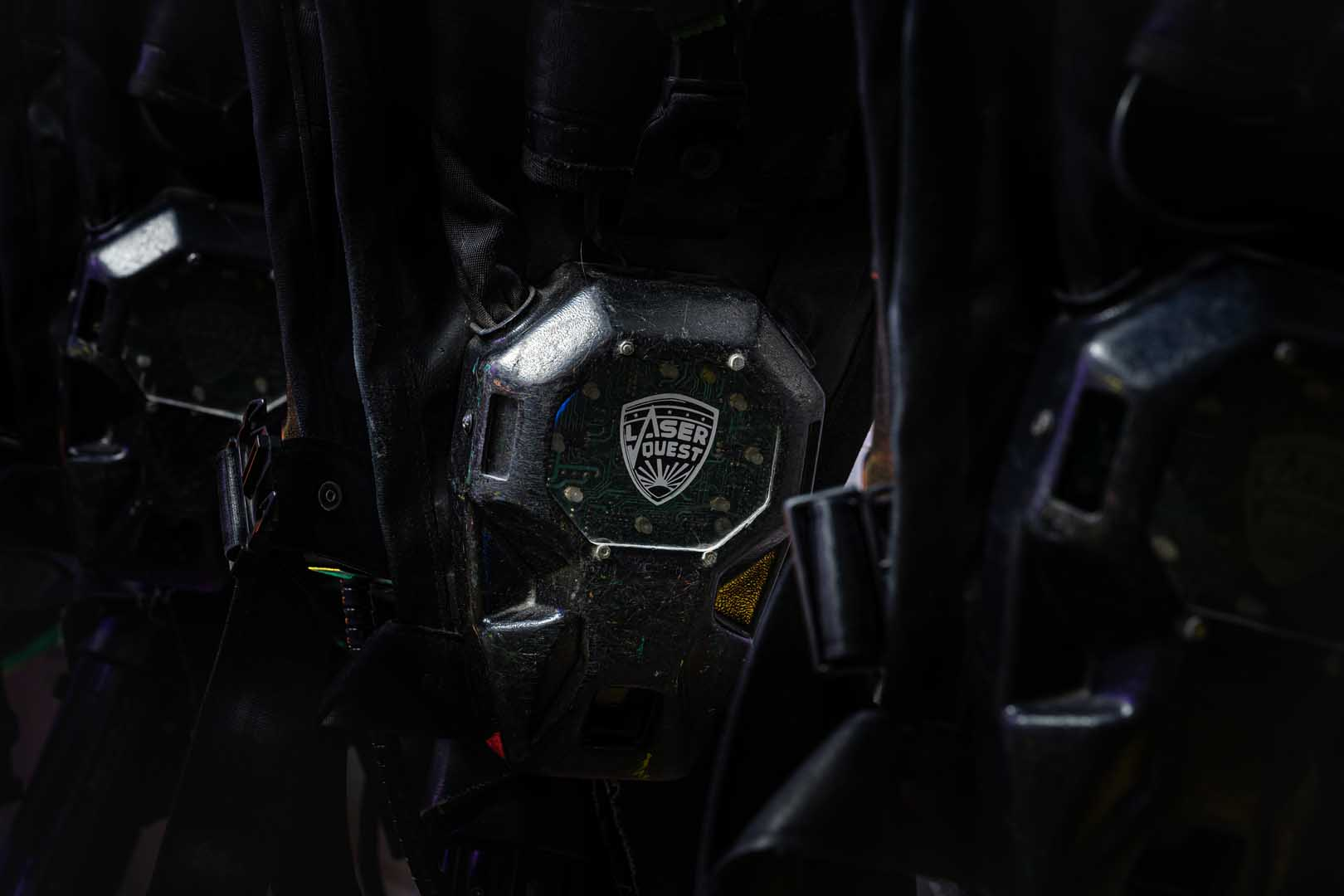 Laserquest logo on gear
